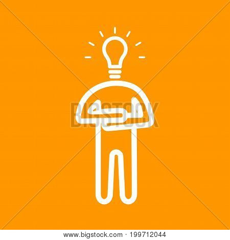 Expert, person, professional icon vector image. Can also be used for Personality Traits. Suitable for web apps, mobile apps and print media.