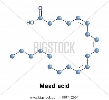 Mead acid is an omega-9 fatty acid. Its elevated presence in the blood is an indication of essential fatty acid deficiency