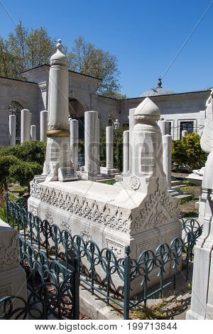 Old Stone On The Graves In Istanbul