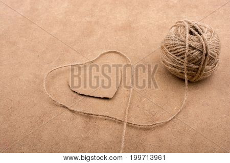 Thread Off Spool Form A Heart Shape