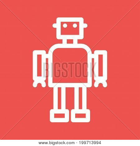 Robot, software, development icon vector image. Can also be used for Data Analytics. Suitable for mobile apps, web apps and print media.
