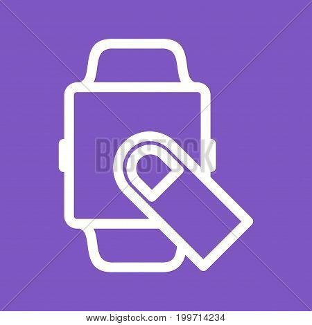 Watch, fingers, hand icon vector image. Can also be used for Smart Watch. Suitable for mobile apps, web apps and print media.