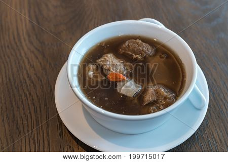 Bak kut teh Thai chinese traditional style soup with pork spare rib