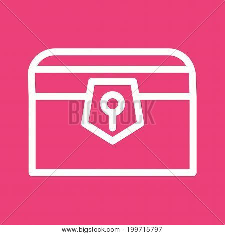 Treasure, chest, gold icon vector image. Can also be used for Pirate. Suitable for use on web apps, mobile apps and print media