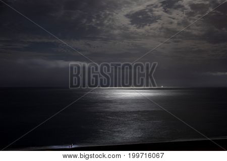 Night Sky With Moonlight Clouds