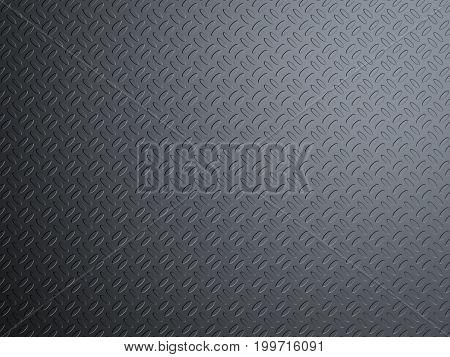 3d rendering black yoga mat background top view