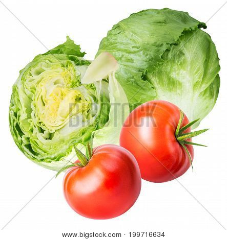 Set Of Fresh Vegetables Isolated On White Background