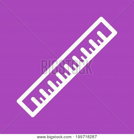 Ruler, length, equipment icon vector image. Can also be used for Hand Tools. Suitable for use on web apps, mobile apps and print media.