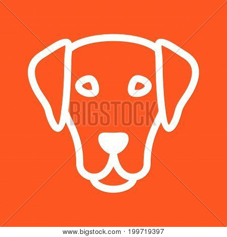 Dog, puppy, face icon vector image. Can also be used for Animal Faces. Suitable for use on web apps, mobile apps and print media.