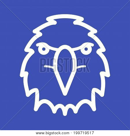 Sky, falcon, eagle icon vector image. Can also be used for Animal Faces. Suitable for mobile apps, web apps and print media.