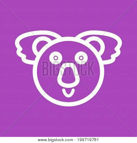 Koala, australia, bear icon vector image. Can also be used for Animal Faces. Suitable for mobile apps, web apps and print media.