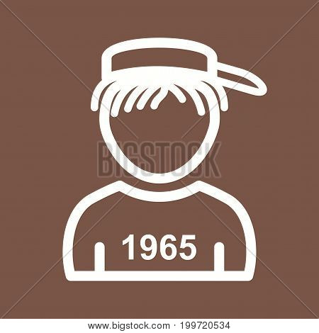 Boy, cap, T shirt icon vector image. Can also be used for Avatars. Suitable for mobile apps, web apps and print media.