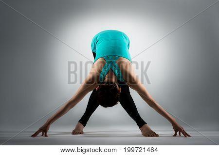 Professional Female Gymnastic Player Legs Crossed