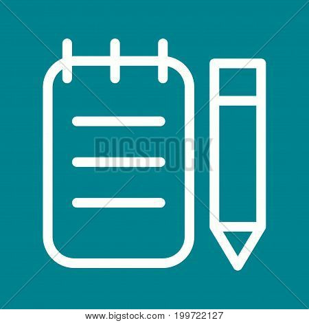 Write, note, order icon vector image. Can also be used for Cafe and Bar. Suitable for mobile apps, web apps and print media.