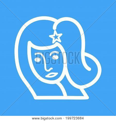 Virgo, sign, zodiac icon vector image. Can also be used for Zodiac. Suitable for use on web apps, mobile apps and print media.