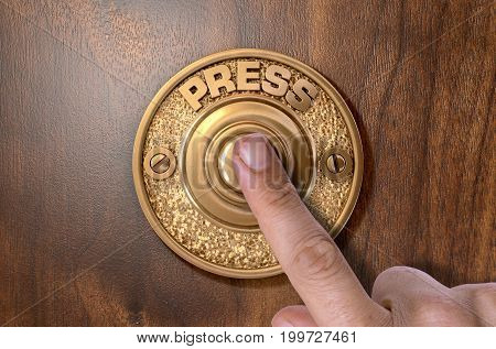 Finger Pressing Doorbell