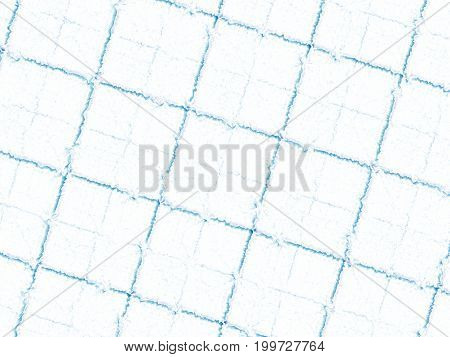 White blue modern abstract fractal art. Background illustration square pattern with irregular ridges. Creative graphic template for various projects and designs, book covers, advertising, layouts