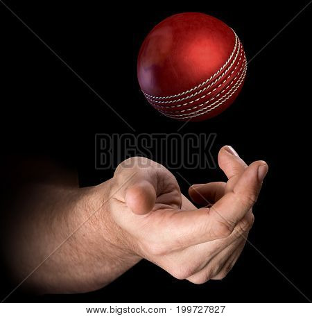 Hand Tossing Cricket Ball