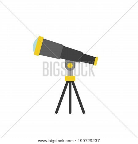 simple telescope icon , flat design vector