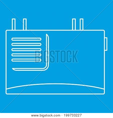 Wall router icon blue outline style isolated vector illustration. Thin line sign