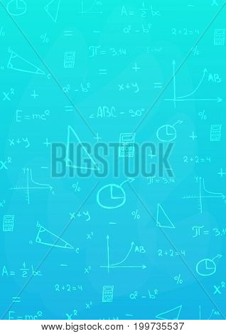 Mathematics Subject. Back To School Background. Education Banner.