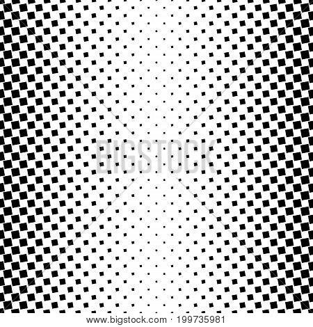Monochrome square pattern - geometrical abstract vector background illustration from angular squares
