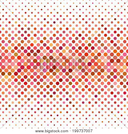 Colored circle pattern background - geometric vector graphic design from dots in red tones