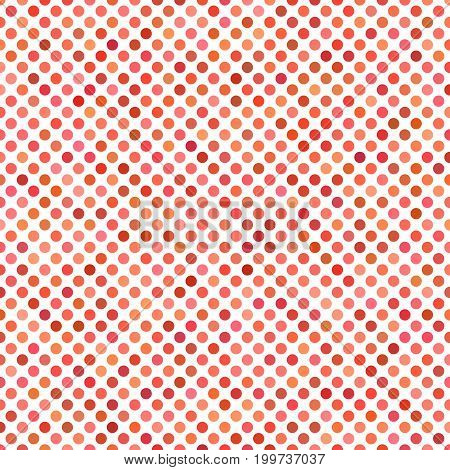 Colored dot pattern background - geometrical vector graphic design from red circles