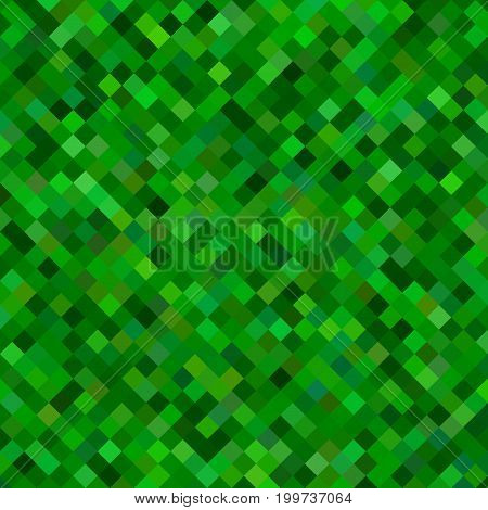 Abstract diagonal square pattern background - geometrical vector design from dark green squares