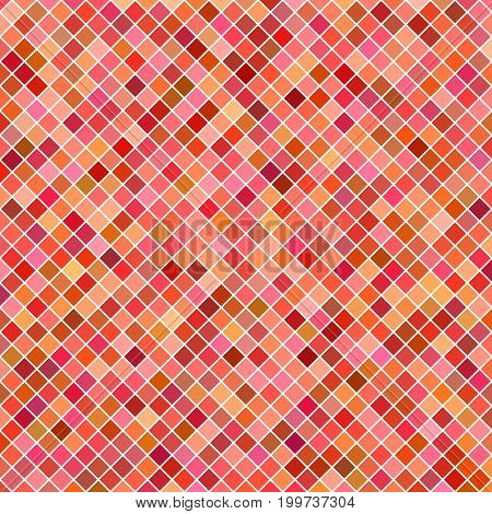 Abstract diagonal square pattern background - geometrical vector graphic design from red squares