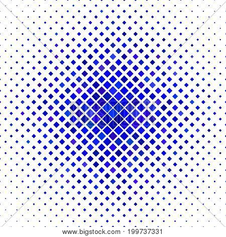 Colored abstract square pattern background - geometric vector illustration from diagonal squares in blue tones