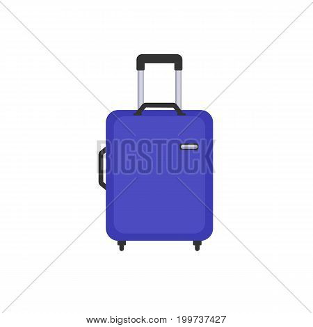 Travel bag flat color icon. This is a vector icon for websites and electronic applications. This icon has a size of 48 by 48 pixels. Also, the size of the icons, you can edit in the graphic editor.