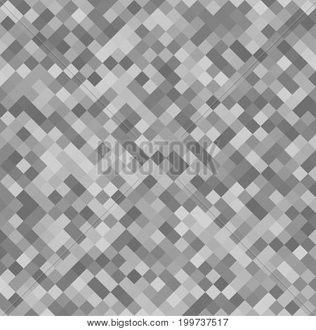 Abstract square pattern background - geometrical vector graphic design from diagonal squares in grey tones