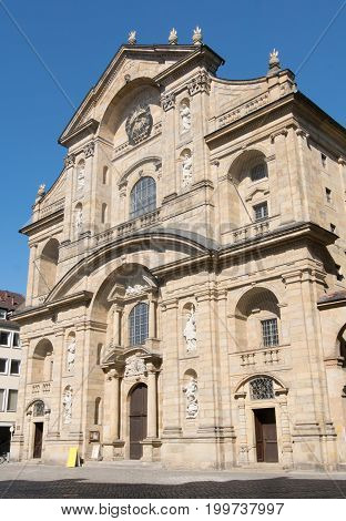 Church (St. Martin), one of the sights of Bamberg, Bavaria, Germany