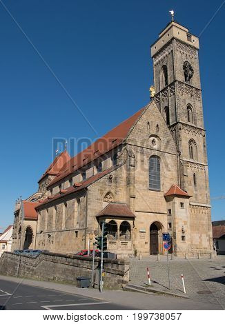 Church (Obere Pfarre), one of the sights of Bamberg, Bavaria, Germany