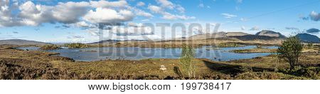 The amazing landscape of Rannoch Moor, Scotland