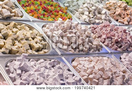 Turkish delight in Istanbul Grand Bazaar Turkey