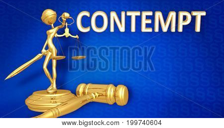 Contempt Law Concept Lady Justice The Original 3D Character Illustration