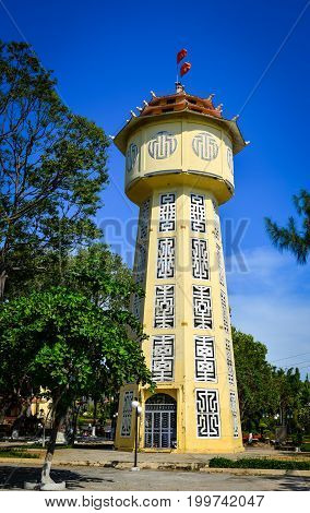 Ancient Brick Water Tower In Phan Thiet, Vietnam