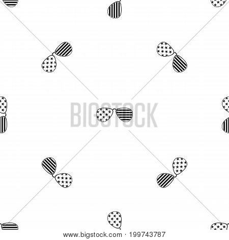 American glasses pattern repeat seamless in black color for any design. Vector geometric illustration