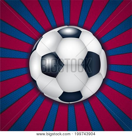 Blue - pomegranate background with football ball. Illustration 10 version.