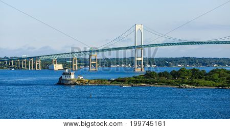 A Suspension Bridge in Newport Rhode Island
