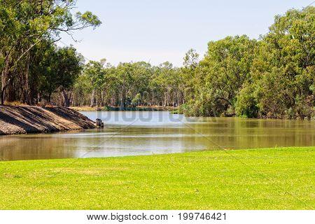 Murray River at Lock Island - Mildura Victoria Australia