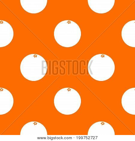Mandarin pattern repeat seamless in orange color for any design. Vector geometric illustration