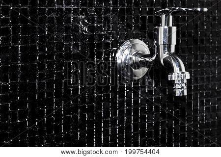 Modern design home bathroom Faucet on black tile