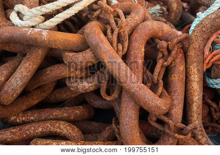 Pile Of Large Chain