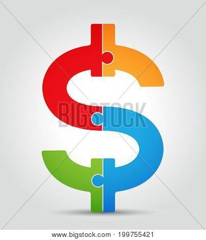 Puzzle - Dollar Symbol