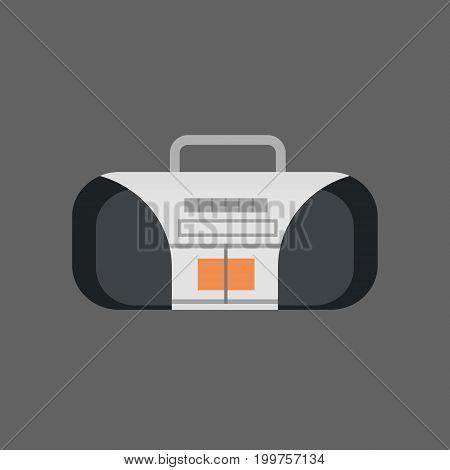 Tape Recorder Icon Modern Audio System Flat Vector Illustration