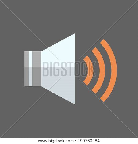 Music Player With Earphones Icon Audio Listening Gadget Flat Vector Illustration