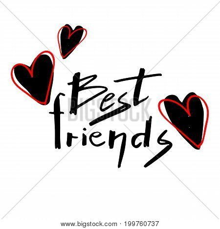 friend forever friendship lettering card inscription text best day greeting